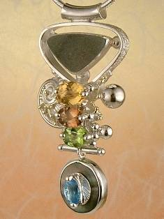 Follow us, Join us on Facebook, and visit http://www.designerartjewellery.com, Gregory Pyra Piro One of a Kind Handmade Jewellery in London in Silver and Gold, Bespoke Jewellery with Semi Precious Stones, #Pendant 3843