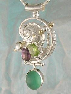 Follow us, Join us on Facebook, and visit http://www.designerartjewellery.com, Gregory Pyra Piro One of a Kind Handmade Jewellery in London in Silver and Gold, Bespoke Jewellery with Semi Precious Stones, #Pendant 8673