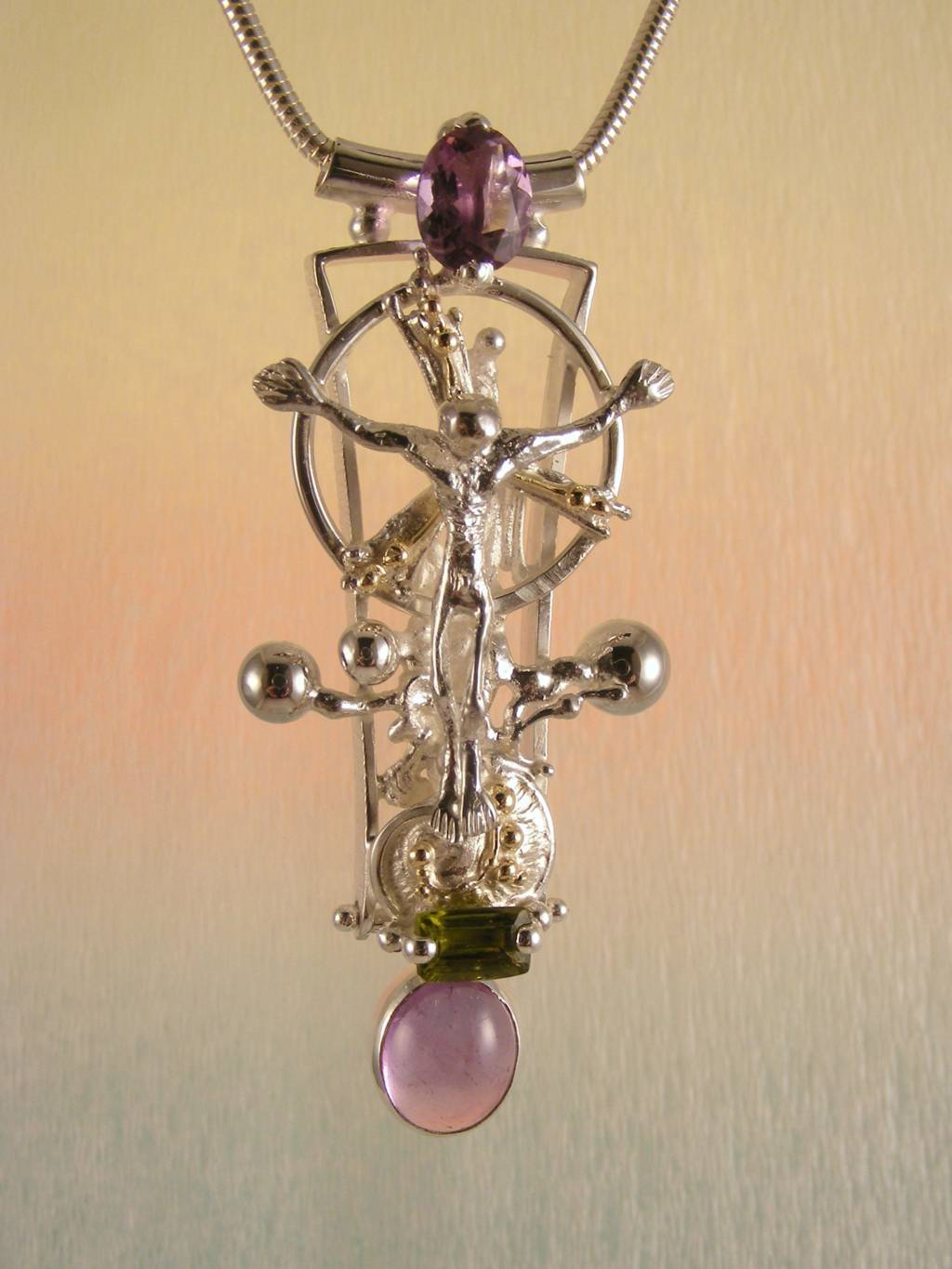 Follow us, Join us on Facebook, and visit http://www.designerartjewellery.com, Gregory Pyra Piro One of a Kind Handmade Jewellery in London in Silver and Gold, Bespoke Jewellery with Semi Precious Stones, #Pendant 3050