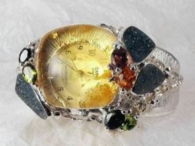 Original Handmade by Artist Designer Maker, Gregory Pyra Piro One of a Kind Original #Handmade #Sterling #Silver and #Gold, Jewellery in #London, #Art Jewellery, #Jewellery Handcrafted by #Artist, #Watch 8394