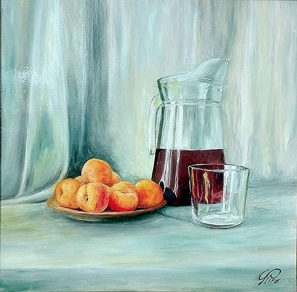 Oil Painting, Appricot and Juice, Gregory Pyra Piro